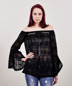 Grama | OFF THE SHOULDER LACE TOP Off The Shoulder, Blouse, Long Sleeve, Lace, Tops, Sleeves, Women, Fashion, Blouse Band