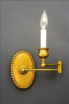 Swing Arm Oval French Bronze Dimensions H x W x D Options Available * French Bronze or Matte Nickel finish * Single Arm Swing Arm Wall Light, Nickel Finish, Candle Sconces, Lamps, Wall Lights, It Is Finished, Bronze, Candles, French