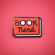Book Nerd enamel pin - Book enamel pin - Reading Pin - lapel pin - bookish pin - book pin