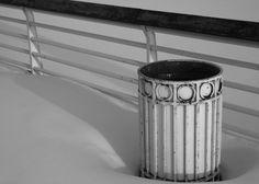 Wastebasket in Snow