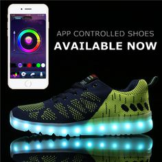 App control High Top LED shoes flat Unisex Luminous Light Up tenis led Shoes men Leisure Casual Sneakers Unisex Hot Fashion Shoe