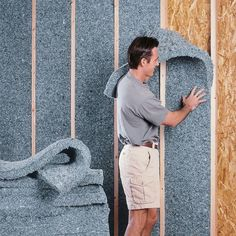 UltraTouch Denim Insulation is manufactured from high-quality recycled textile fibers. These fibers contain inherent qualities that provide for extremely effective sound absorption and maximum thermal performance. UltraTouch contains no chemical irritants Home Renovation, Home Remodeling, Architecture Durable, Home Insulation, Insulation Types, Cellulose Insulation, Insulation Materials, Eco Friendly House, Container Houses