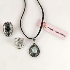 Conjuntinho perfeito! Saiba mais em nossa loja 😍😍😍 #moda #colar #anel #bijoux