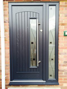 Rome style in Anthracite Grey, with TG132 satinized glazing and 1200 Brushed steel handle.    About The Palladio Door Collection UK: Profile Developments have endeavoured to provide a superior composite door which has resulted in the iconic Palladio Door Collection.  Not only are their doors strong, a-rated and highly secure, they combine tradition with the latest innovation putting them at the forefront of the composite door industry in the UK.