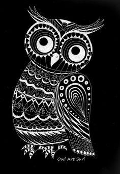 Eule klein - Artwork by Surinia Ulula.
