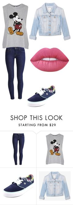 """""""Sem título #80"""" by angelica-curitiba ❤ liked on Polyvore featuring Levi's, Topshop, DC Shoes, Forever 21 and Lime Crime"""