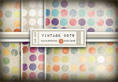 vintage dot backgrounds FREE