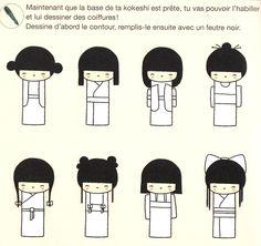 Comment dessiner une kokeshi