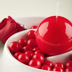 #Red #Glossy #HighGloss #BallCandle #SphereCandle #YummiCandles Candles For Sale, Color Themes, High Gloss, Red