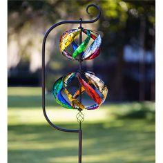 Double Helix Metal Wind Spinner | Decorative Garden Accents