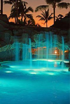 Maui, Marriott, Curacao at night...Maui, Hawaii
