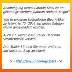 Ein neues Batman Spiel ist angekündigt worden, siehe pin bild!