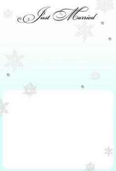 雪結晶 結婚報告フォトフレーム