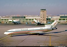 """Delivered new to United in February 1968, serving until retired in September 1993. Here it wears the attractive """"Friend Ship"""" colour scheme when departing from ORD. - Photo taken at Chicago - O'Hare International (Orchard Field) (ORD / KORD) in Illinois, USA on December 2, 1973."""