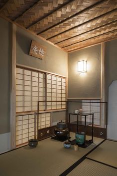 Image 20 of 27 from gallery of A House with a Ryūrei Style Tea Room / Takashi Okuno & Associates. Photograph by Shigeo Ogawa Japanese Interior, Japanese Design, Japanese Architecture, Architecture Design, Japanese Tea House, Bedroom Ceiling, Modern Interior Design, Modern Bedroom, Tea Houses
