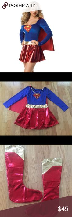 Halloween Super Woman Costume Brand New fits sizes S-L Other
