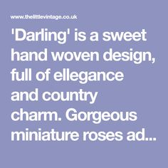 """'Darling' is a sweet hand woven design, full of ellegance andcountry charm.Gorgeous miniature roses adorn this little wreath. It would look just perfect hanging on a bedroom door or over a mirror.A gorgeouslittle arrangementtostyle your home.You will receive your wreath in one of our luxury keep sake boxes.Approximate size: Width 9"""" x Depth 2""""Please read Shipping Info and Care Instructions before purchasing. Mail Sign, Country Charm, Keepsake Boxes, Hand Weaving, Roses, Miniatures, Mirror, Bedroom, Luxury"""