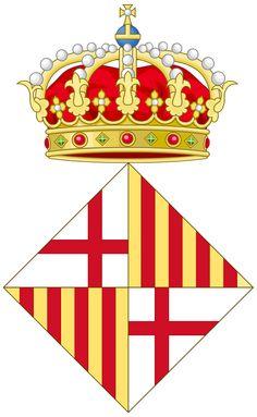 Coat of Arms of Barcelona - España. Barcelona es una ciudad española, capital de la provincia homónima y de la comunidad autónoma de Cataluña. Con una población de 1 620 943 habitantes en 20124 es la segunda ciudad más poblada de España después de Madrid, y la undécima de la Unión Europea. El área metropolitana de Barcelona, incluida en la Región urbana de Barcelona, cuenta con 5 029 181 habitantes (2011), siendo así la sexta ciudad de mayor población de la Unión Europea.