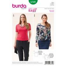 Burda - 6749 shirt grote maten