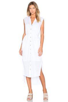 Heather Linen Maxi Shirt Dress in White | REVOLVE