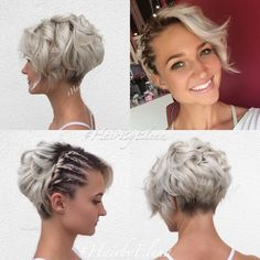"40 best short wedding hairstyles that let you say ""Wow!"" - Best hairstyles haircuts - 40 best short wedding hairstyles that let you say ""Wow! Short Bob Hairstyles, Hairstyles Haircuts, Braided Hairstyles, Cool Hairstyles, Hairstyle Short, Messy Haircut, Pixie Wedding Hairstyles, Hairstyle Ideas, Bangs Hairstyle"