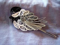 Mini Quilled Chickadee Ornament by joanscrafts on Etsy