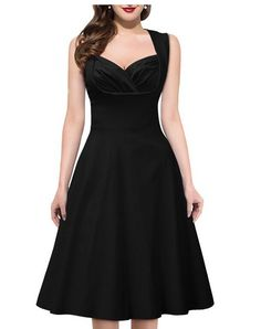 Looking for a black or navy dress, with a vintage feel. Also open to lace. Skirt doesn't need to flare a ton.