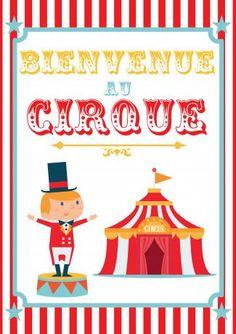 poster anniversaire cirque à imprimer Plus