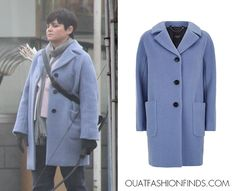 MaxMara Weekend Piombo Mohair Cocoon Coat as seen on Mary Margaret in an upcoming episode (£385)