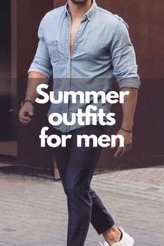 Cool Summer Outfits, Summer Fashion Outfits, Mens Clothing Styles, Men's Clothing, Dapper Men, Summer Trends, Sneakers Fashion, Outfit Of The Day, Latest Trends