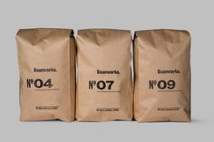 Brand identity and packaging designed by UK based Paul Belford Ltd. for coffee roaster and supplier Beanworks. Food Packaging Design, Coffee Packaging, Coffee Branding, Packaging Design Inspiration, Brand Packaging, Organic Packaging, Bottle Packaging, Granola, Coffee Label
