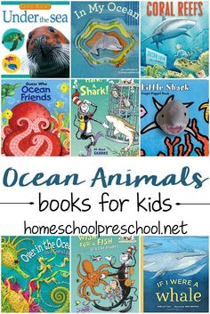 I love this collection of 27 amazing ocean animal books for preschoolers! These are great for young readers who are learning about animals and the ocean! via @homeschlprek Kindergarten Books, Preschool Books, Preschool Lessons, Preschool Centers, Preschool Crafts, Fun Crafts, Ocean Activities, Book Activities, Educational Activities