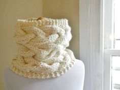 Woven Knit Cowl.