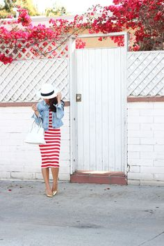 17 best ideas about Striped Midi Dress on Pinterest | Vertical