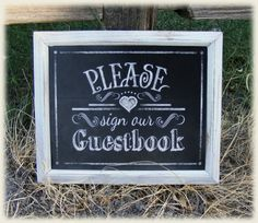 Printable Wedding Chalkboard sign - PLEASE sign our GUESTBOOK - instant download digital file - DIY - Rustic Collection - Wedding Signage on Etsy, $3.29 AUD