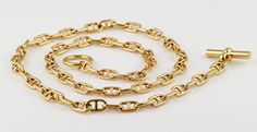 HERMES Chaine D'Ancre Gold Toggle Link Necklace