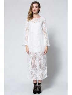 SHARE & Get it FREE | Long Sleeve Crochet Flower Open Back Maxi DressFor Fashion Lovers only:80,000+ Items • New Arrivals Daily Join Zaful: Get YOUR $50 NOW!
