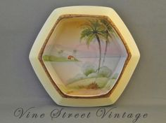 Vintage Octagon Nippon Hand Painted Dish. $25.00, via Etsy.