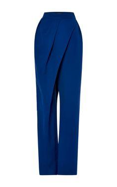 High Waist Wrap Pant by Vika Gazinskaya for Preorder on Moda Operandi - Hosen Fashion Pants, Hijab Fashion, Fashion Outfits, Womens Fashion, Fashion Trends, Casual Outfits, Gothic Fashion, Mode Style, Style Me