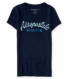 Aeropostale Womens Eighty7 Banner Graphic T Shirt M Classic Navy >>> Check out this great product.Note:It is affiliate link to Amazon.