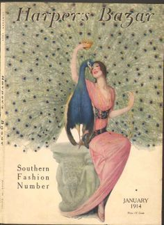 FASHION Vogue Lady Gold Dress Roses Flowers Vintage Poster Reproduction FREE S//H