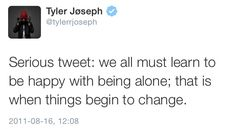 I love how he has to preface that with 'serious tweet'