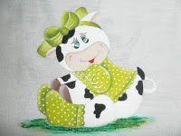Mundo das Vaquinhas: vaquinha pintura em tecido