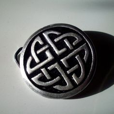 Celtic Belt Buckle in Black Enamelled Pewter by GelertDesign, £21.45