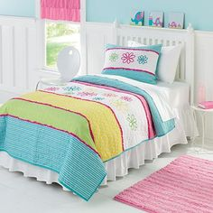 Jumping Beans® Bright Blooms Quilt Coordinates