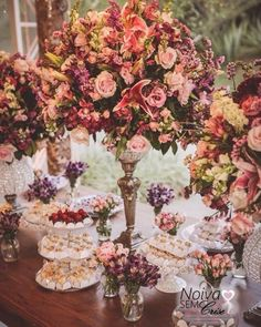 Resultado de imagem para Lilás e rosa chá casamento