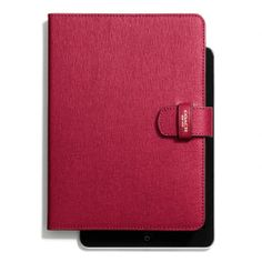 The Mini Ipad Folio In Saffiano Leather from Coach with my initial monogrammed on the bottom! ah it will remain a wish!
