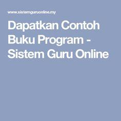 Dapatkan Contoh Buku Program - Sistem Guru Online