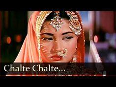 Chalte Chalte Yunhi Koi Mil Gaya Tha - Meena Kumari - Pakeezah - Ghulam Mohammed - Old Hindi Song - YouTube