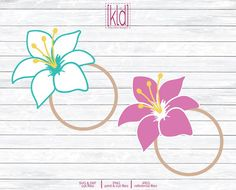 Easter Lily Monogram Frame svg files by Kelly Lollar Designs